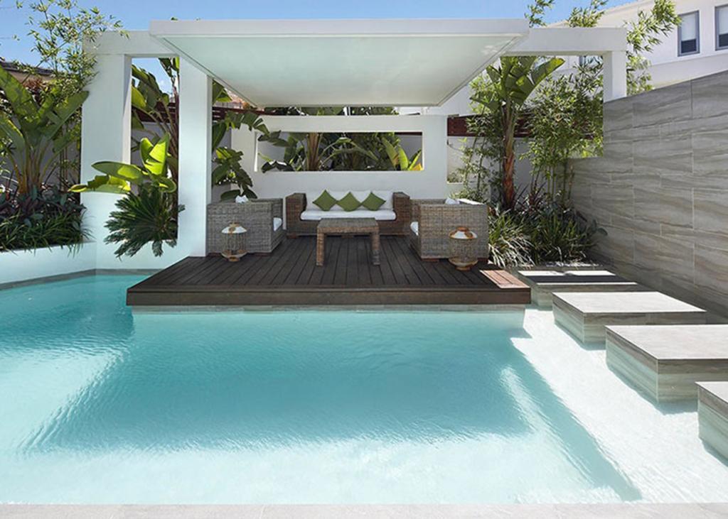 modernistyczna altana ogrodowa