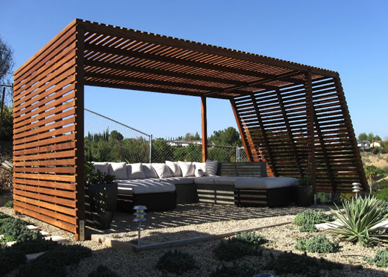 Built On Garage Shade Canopy : Altana kreatywne inspiracje od green design