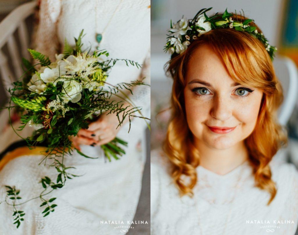 wiązanka ślubna biała
